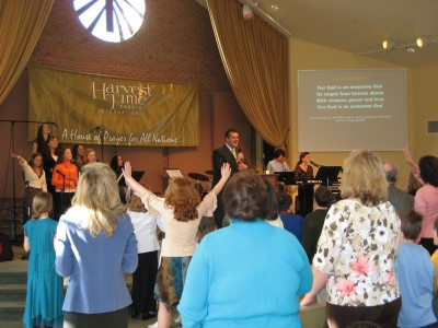 Sanctuary Worship - Pastor Glenn leads the...